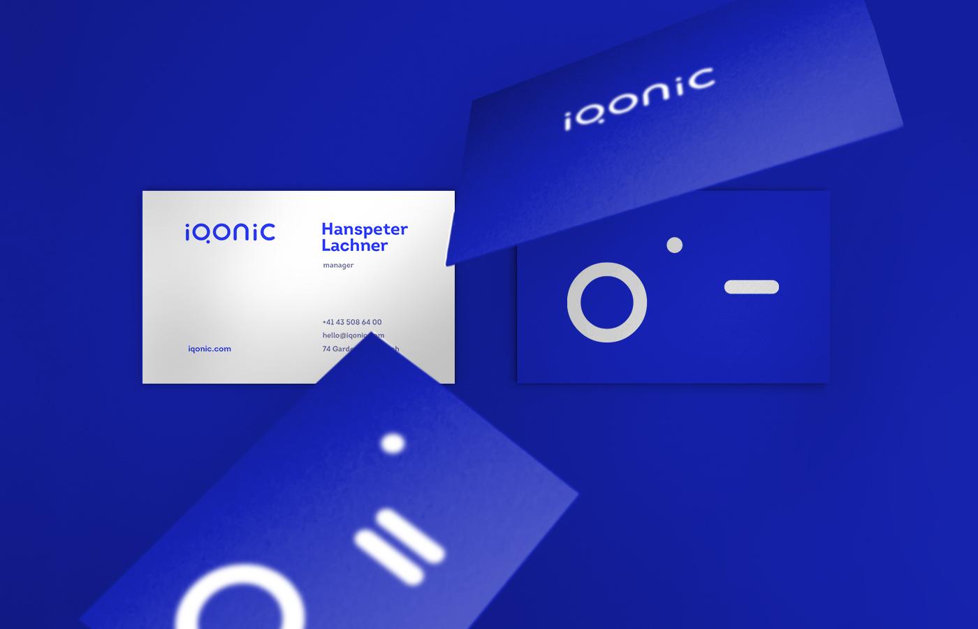 Business cards design for Iqonic by Alevtyna Makovska