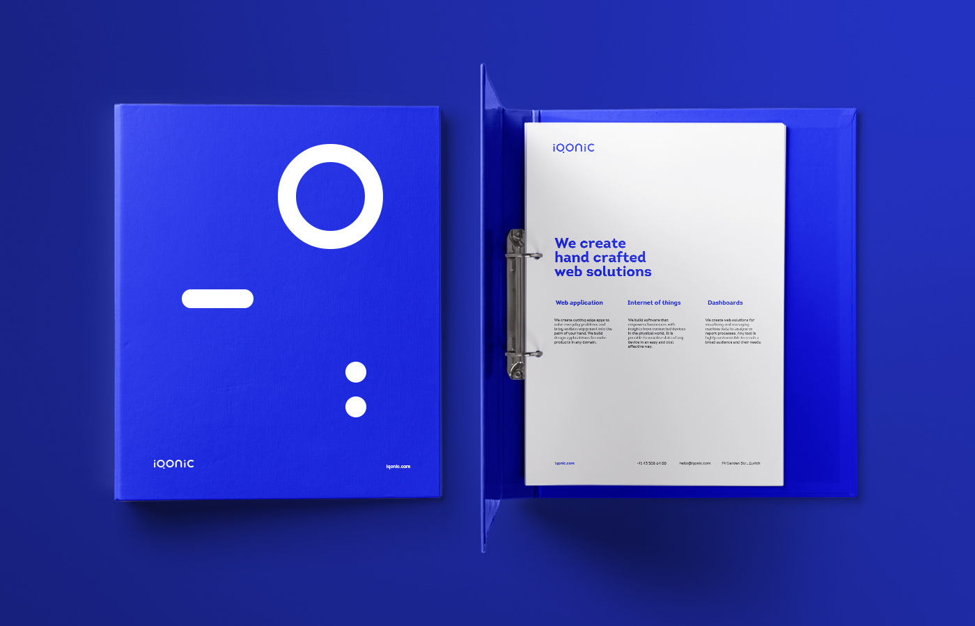 Stationery design for Iqonic by Alevtyna Makovska