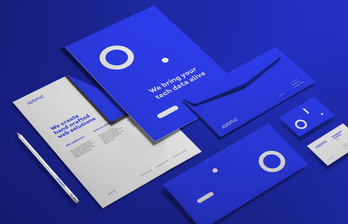 Stationery design for Iqonic by Alevtyna Makovska 3