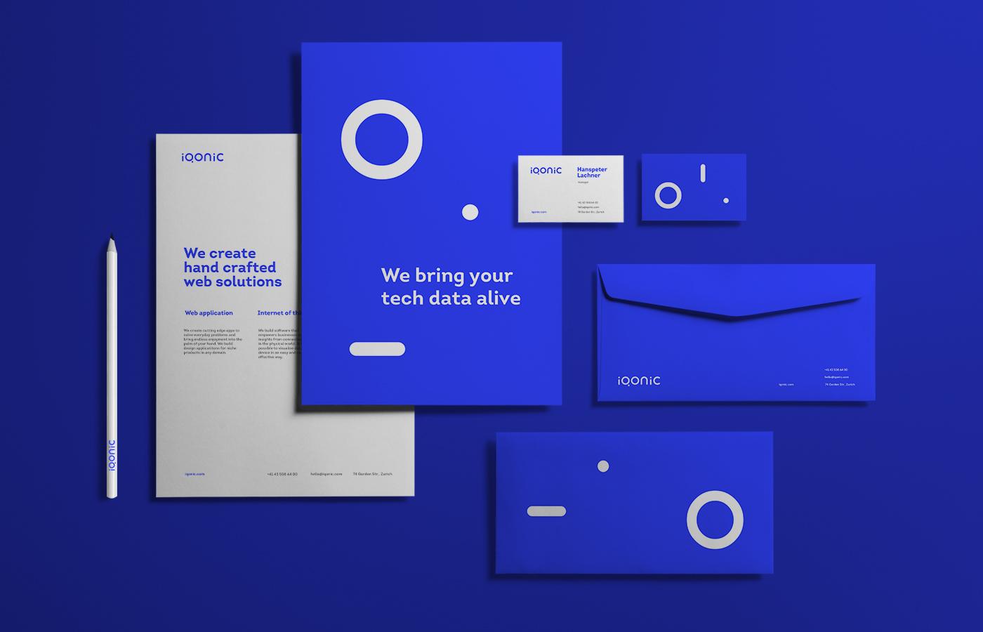 Stationery design for Iqonic by Alevtyna Makovska 4